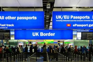 English Soccer Tour, Stop 1: Heathrow Customs