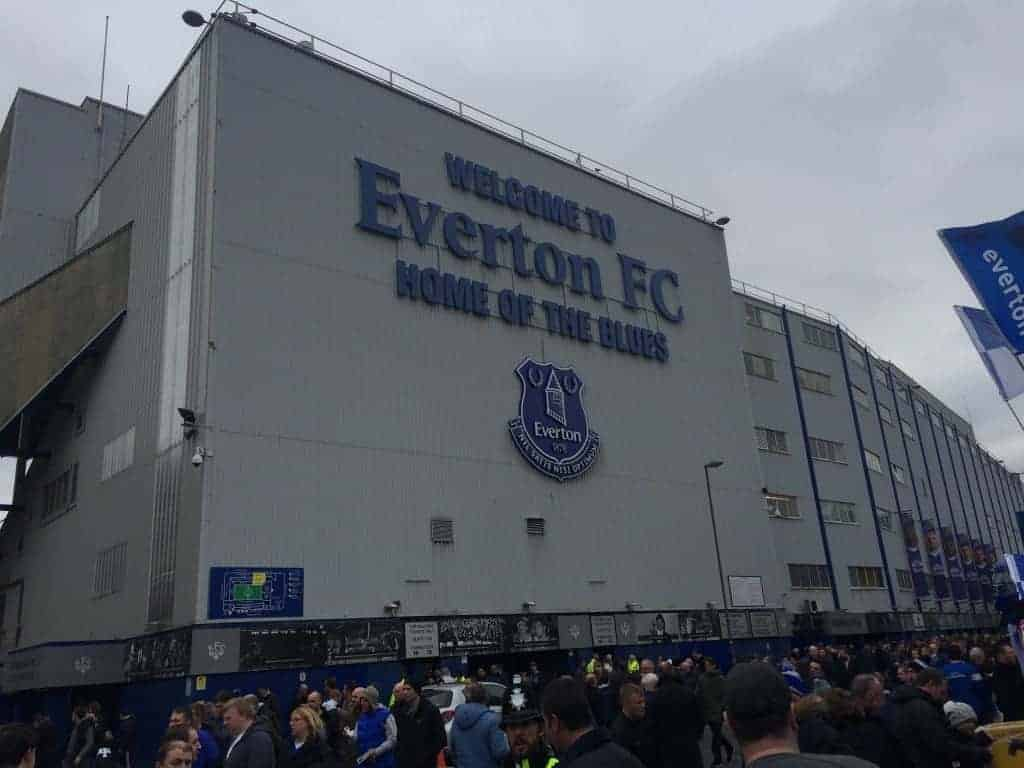 "Goodison Park, home of ""the People's Club,"" Everton FC."