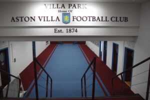 A Game at Aston Villa: Rain, Lines, A Great Stadium, and a Mr. Harry Kane
