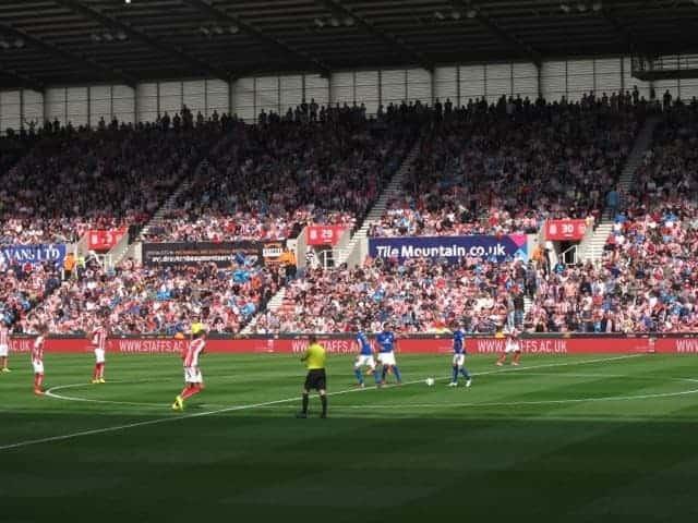 Kickoff soccer game Stoke City England