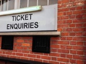 ticket enquiries office at english soccer stadium