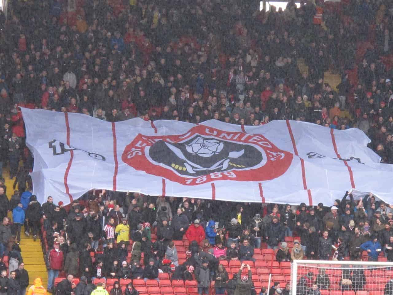 sheffield united bramall lane kop banner fa cup 5th round