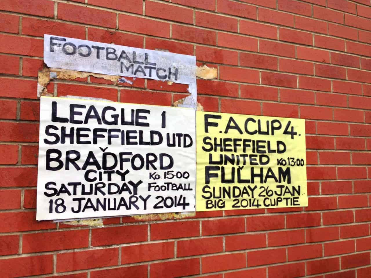 sheffield united bramall lane fa cup signs