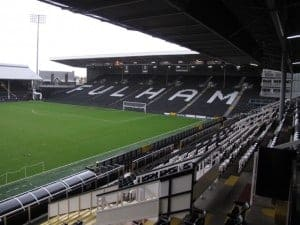 Touring Craven Cottage at Fulham FC