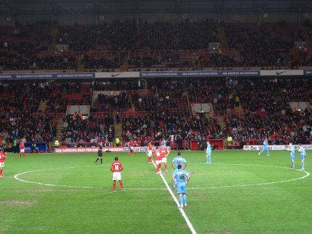 English soccer players on field Charlton