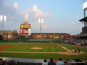 Imagine a big-leagues team having to go to Memphis (from ballparkreviews.com)