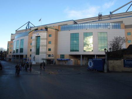 Stamford Bridge, home of Chelsea FC in London.