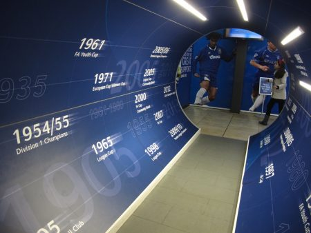 Entrance to the museum: a veritable tunnel of honors.