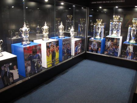 The trophy room shows some of the biggest honors.