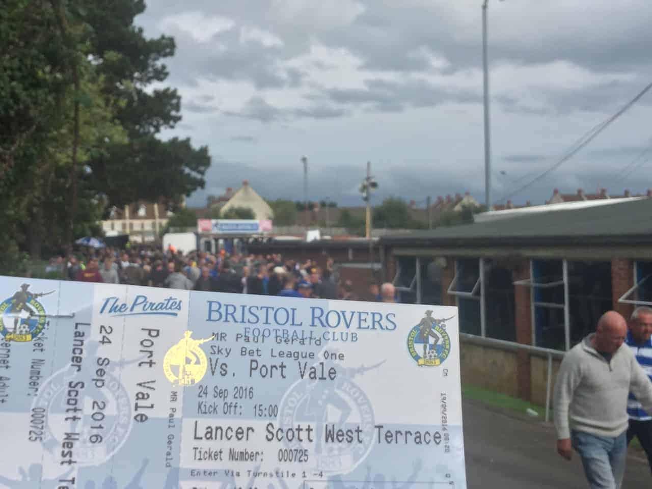 bristol rovers football ticket