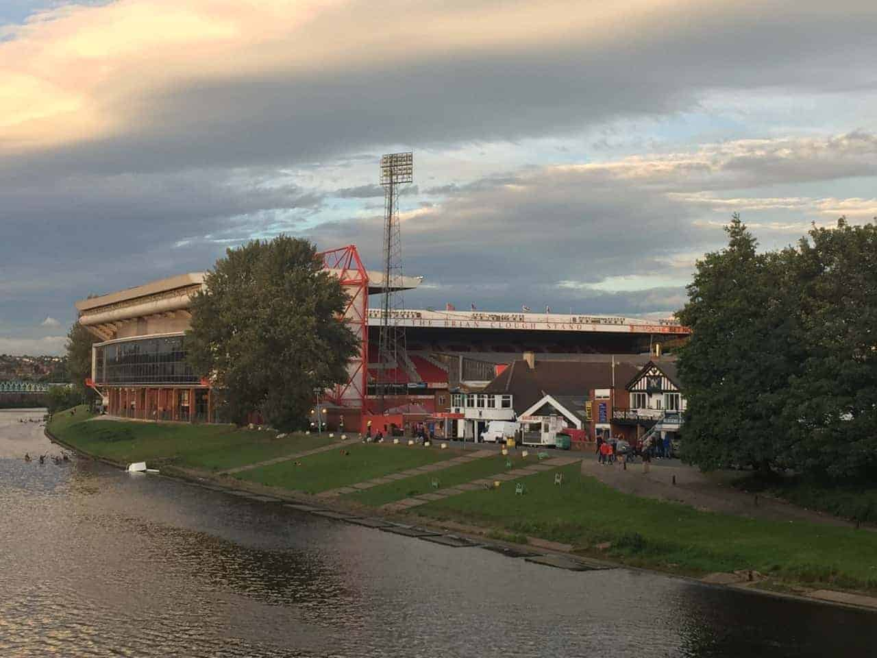 Exterior of City Ground, home of Nottingham Forest FC
