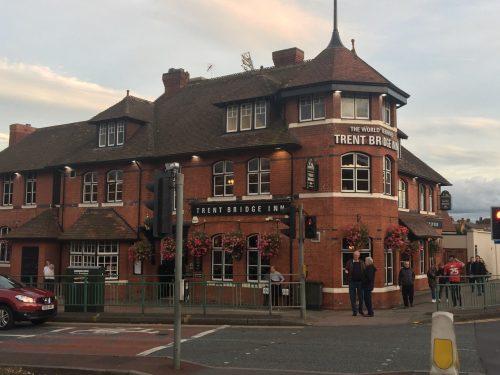Exterior of the Trent Bridge Inn in Nottingham, England.