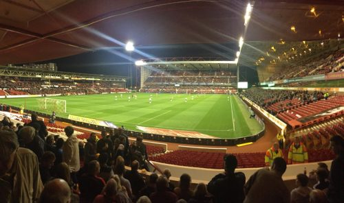 Panorama of City Ground, home of Nottingham Forest FC.