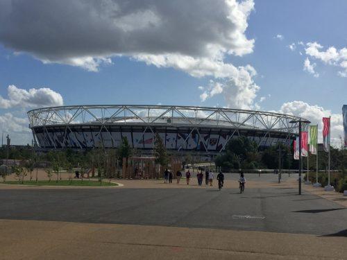 Exterior of London Stadium, home of West Ham United FC