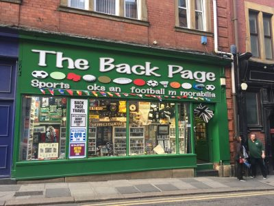 The Back Page, an all-soccer bookstore