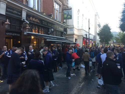 Tartan Army in Covent Garden