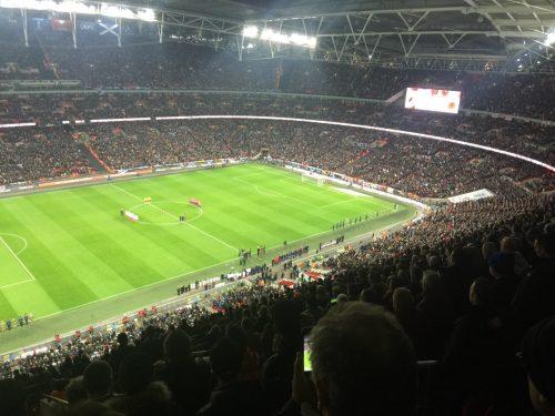 Wembley Stadium, some 90,000 seats.