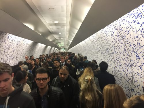 Just another evening in the Tube.