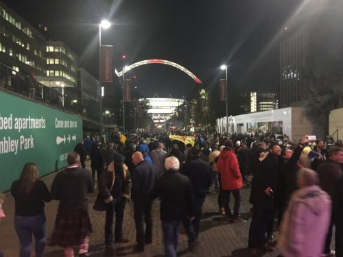 Along the Wembley Way.