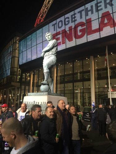 Sir Bobby Moore statue.