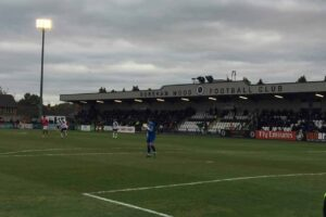 In the FA Cup at Boreham Wood FC
