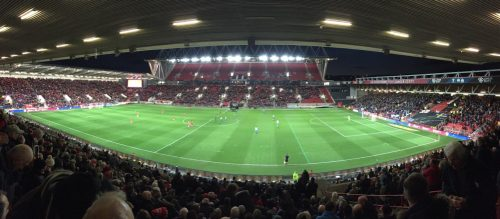Panoramic view from my seat.