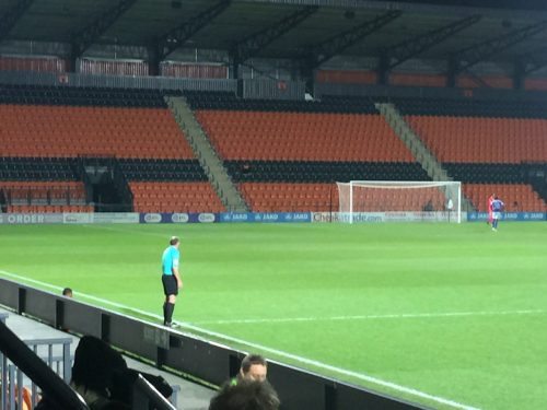 empty stands at league trophy game at barnet