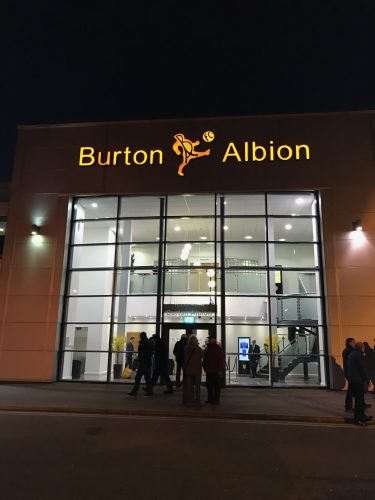 see a football game at Burton Albion FC