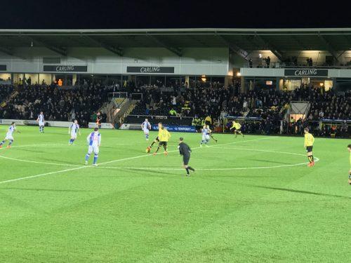 Kickoff at the Pirelli Stadium, home of Burton Albion.