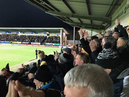 Fans at the Pirelli Stadium, home of Burton Albion.