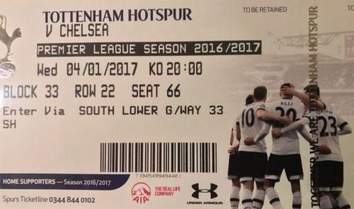 Tottenham Hotspur soccer Ticket