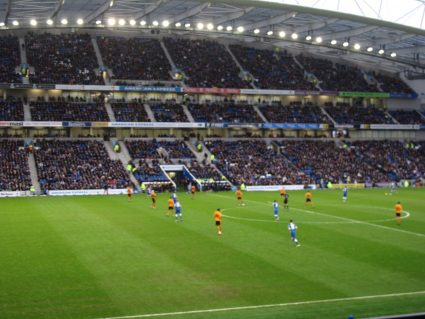 Kickoff at the Amex Community Stadium in Brighton