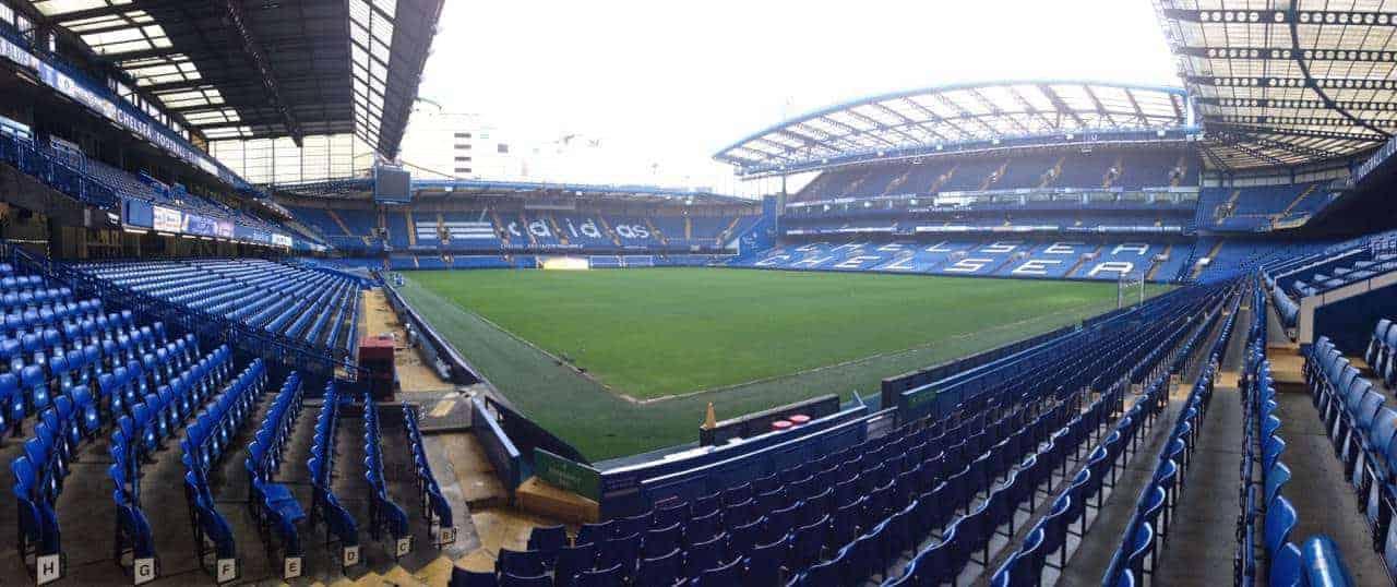 panorama of Stamford Bridge Chelsea stadium