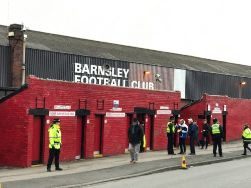 Turnstiles at Oakwell, home of Barnsley FC.