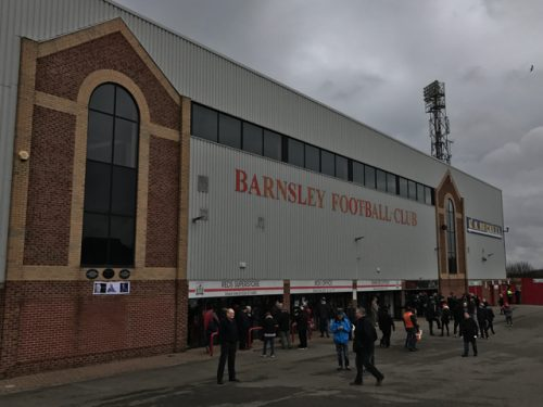 Outside of Oakwell Stadium, home of Barnsley FC.