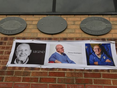 Pictures of a club legend at Oakwell, home of Barnsley FC.