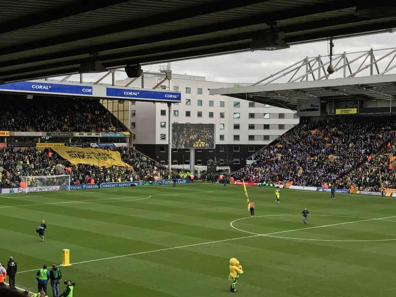 english football stadiums norwich carrow road