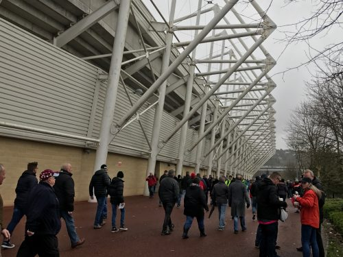 Swansea City Liberty Stadium architecture fans outside