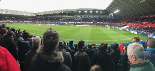 Swansea City Liberty Stadium fans watching game