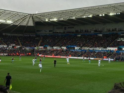 kickoff at Swansea City Liberty Stadium