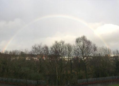 Swansea City Liberty Stadium rainbow