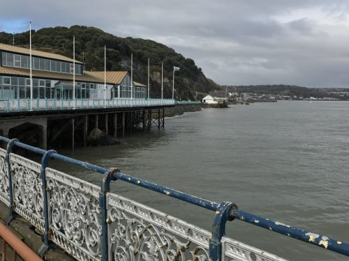 view from mumbles pier south wales