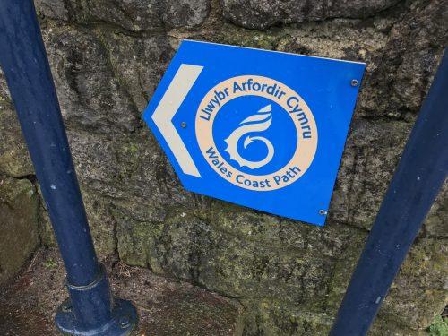 Wales coast path sign mumbles south wales