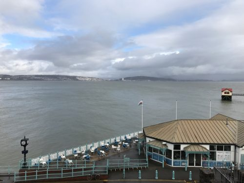 view from wales coastal path mumbles south wales