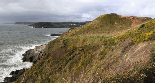 terrain Wales coast path mumbles south wales