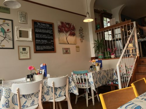 interior of Kitchen Table Cafe Mumbles