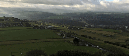 landscape panorama from Castle Hill