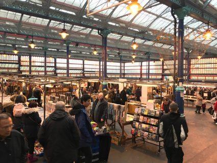 huddersfield open market people shopping