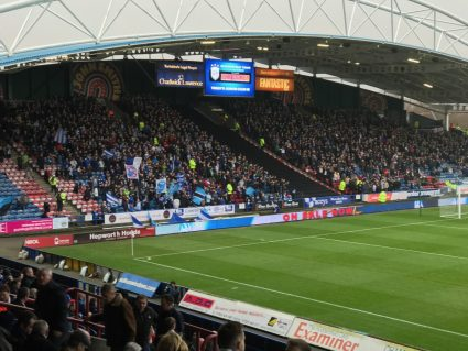 fans watching a game at huddersfield town