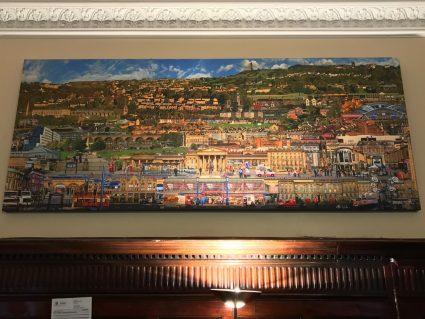 huddersfield town hall mural